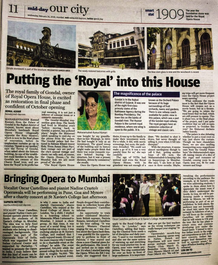 Mid day Bringing opera to mumbai article (1 of 1)